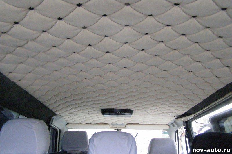 Перетянуть потолок в машине